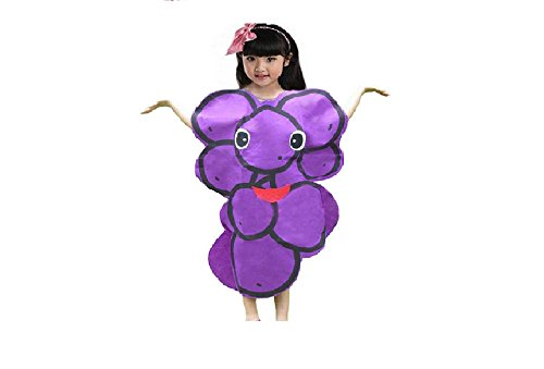 Kids Fruits Vegetables and Nature Costumes Suits Outfits Fancy Dress Party Boys and Girls (Purple Grapes)]()