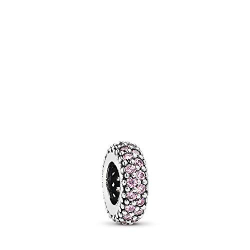 PANDORA Inspiration Within, Spacer Charm, Sterling Silver, Cubic Zirconia, One Size (Pandora Staff Charm)
