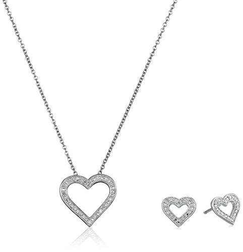 sterling-silver-diamond-heart-pendant-necklace-and-earrings-jewelry-set-1-10-cttw