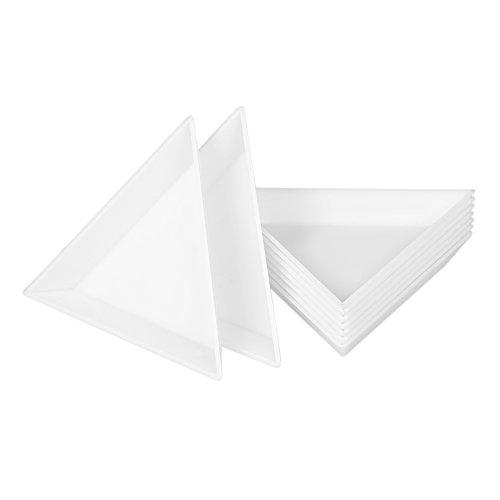 Anself 10Pcs Nail Triangular Plate Nail Art Storage Display Plate Stickers Drilling Storage Box Diamond Rhinestone Drill (Triangular Display)