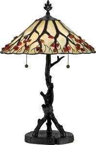 Quoizel AG711TVA Agate Tree Tiffany Table Lamp, 2-Light, 150 Watts, Valiant Bronze (25