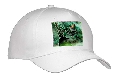 (Doreen Erhardt Wildlife - A Lovely Nature Scene with a Buck and a Songbird for The Nature Lover - Caps - Adult Baseball Cap (Cap_304632_1) )