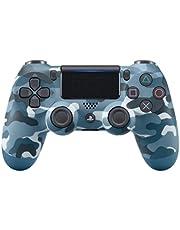Controle joystick PS4 sem fio primeira linha - bluetooth, função de vibração dupla, conector de áudio para PS4 - Várias cores (Camuflado azul)