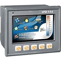 ICP DAS VPD-142 - 4.3 Touch Screen HMI device with RS-232/RS-485, USB, RTC, Rubber Keypad, supports XV-board