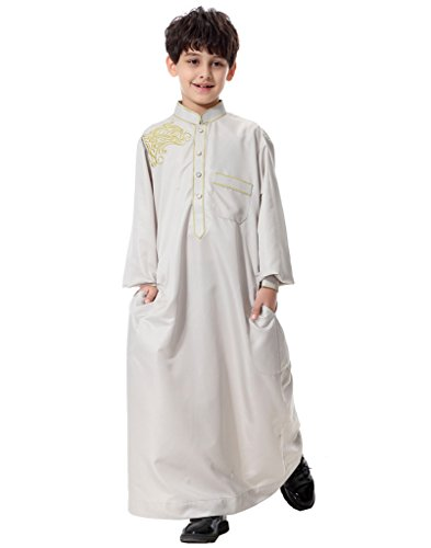 GladThink-Boys-Muslim-Embroidery-Thobe-Long-Sleeves-Mandarin-Neck