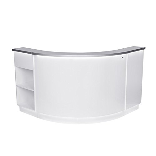 CURVED RECEPTION DESK RECEPTION AREA COUNTER - JANUS-WS