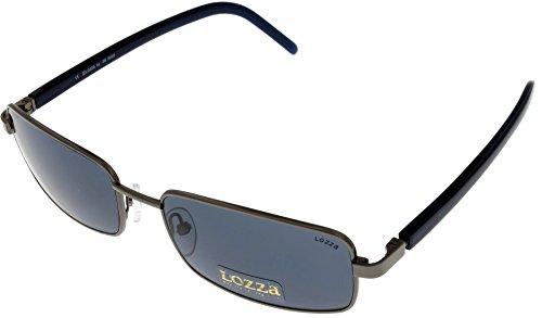 Lozza by DE RIGO Sunglasses Unisex SL1494 568K Palladium Navy ()