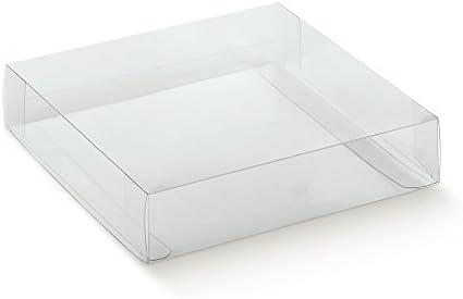Caja transparente PVC acetato mm.90 x 60 x 40 pz.50: Amazon.es: Oficina y papelería