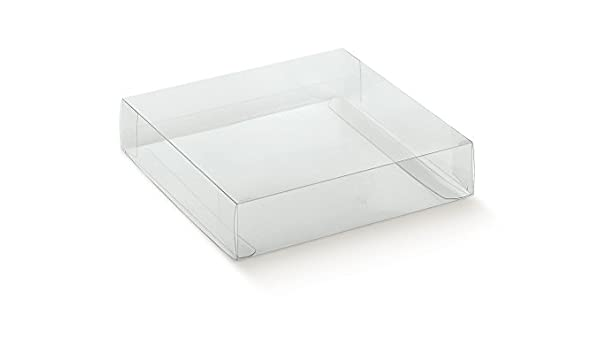 Caja transparente PVC acetato mm.90 x 60 x 40 pz.50: Amazon.es ...