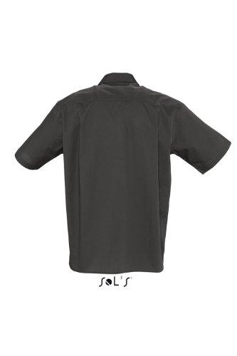 SOLS Kurzarm Hemd Berkeley Herren Hemd Übergröße bis 4XL NEU L,Black