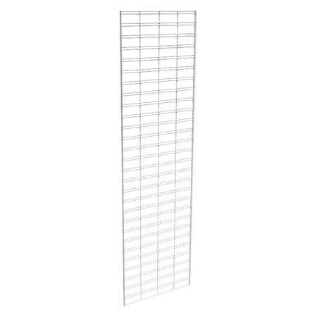 Wire Slatgrid Panel, White, 2ft.x7ft, PK3