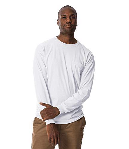 46245bcd6a1 Gildan Men s Heavy Blend Fleece Hooded Sweatshirt G18500 - White - M ...