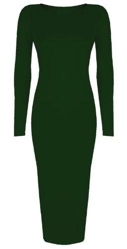 Baleza - Robe -  - Manches longues Femme -  Vert - Vert foncé - Taille unique - Petite