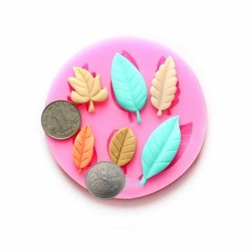 Polymer Clay Cake Decoration Fondant Cupcake Topper Crafting Projects Non stick easy to use Anyana leaf maple Candy Silicone Mold for Sugarcraft Jewelry