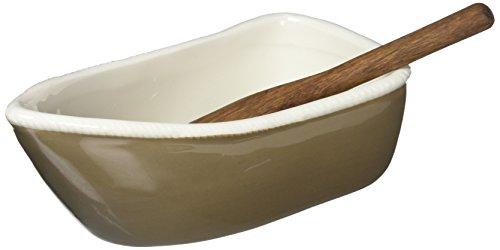 Row Houses (Mud Pie 4854000T Tan Row Boat Dip Cup Set, Brown)