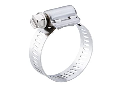 Breeze Power-Seal Stainless Steel Hose Clamp, Worm-Drive, SAE Size