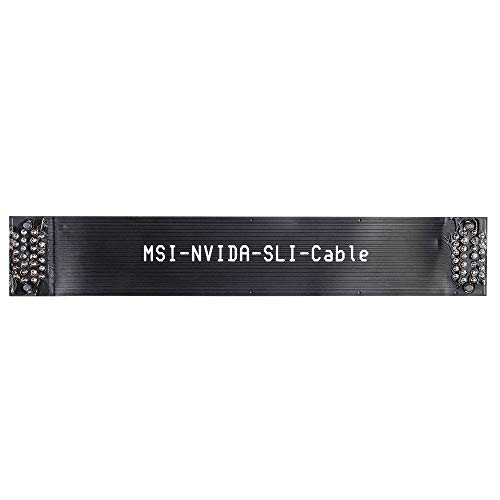 Kyerivs 2 Way SLI Bridge Flexible, 3 Slot SLI Crossfire Connector for ASUS, Nvidia Graphics Card (Black 1pc)
