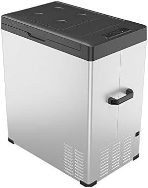 カー冷蔵庫 ホーム旅行のハイキングの白のために75リットルポータブルコンプレッサー冷蔵庫冷凍庫低ノイズ大型冷蔵庫 車に置くのに適しています (Color : White, Size : 65.2X36.3X66.6CM)