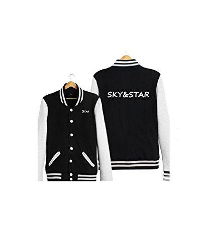 Autumn New Men Slim Baseball Uniform Jacket(Black) - 3