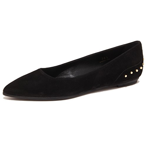 scarpa TOD'S donna shoe woman nero Nero suede ballerina 3268P FZU1SS