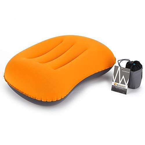 Weanas Ultralight Inflating Air Pillow Portable Compact Comfortable for Camping, Hiking, Backpacking, Travel