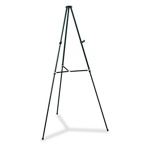 Quartet Easel, Aluminum, Lightweight, Telescoping, 66'' Max. Height, Supports 25 lbs, Black (51E) by Quartet