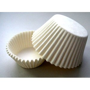 Novacart White Baking Cup - 2'' Bottom x 1-1/4'' High, 1 Case by Novacart