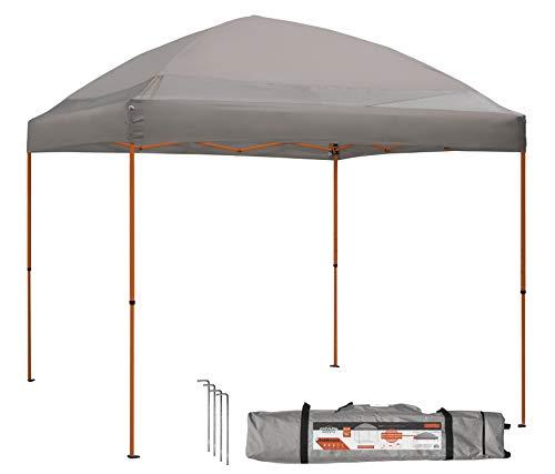 Caravan Canopy 10' x 10' ArchBreeze Instant Canopy, Grey Top