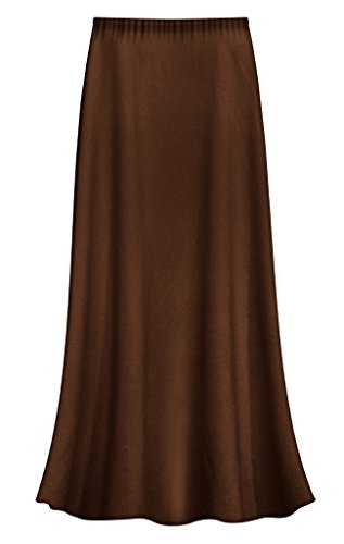 Sanctuarie Designs Solid Brown Slinky Plus Size Supersize Skirt 3x