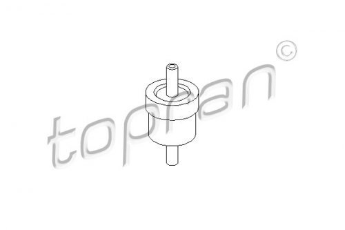 Unterdruckpumpe TOPRAN 111 298 Ventil