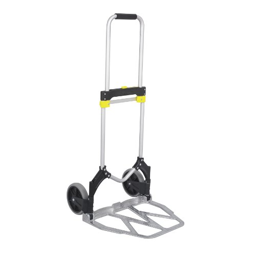 Safco Products 4052 Stow-Away XL Collapsible Utility Hand Truck, Silver