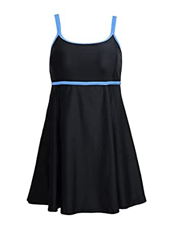 Nonwe Swimwear Vintage Cover Up One Piece Swimsuit Swimdress 108832-US 12