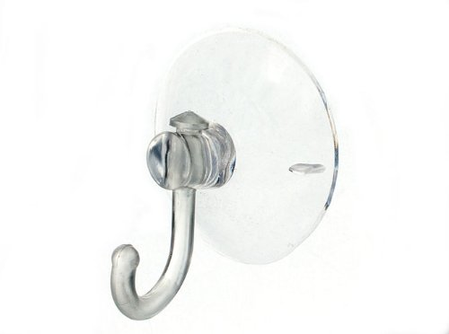 SUCTION SUCKER WINDOW HOOKS CLEAR PLASTIC HOOK 45MM ( pack of 50 )