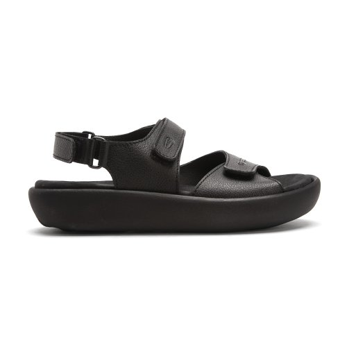 Women's Infinity Black Sandal Pebbled Greased Mighty Wolky Leather AqnaPTq