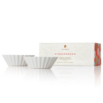 Thymes – Warm Gingerbread Ceramic Tart Wax Candle Set – 2.25 Ounces