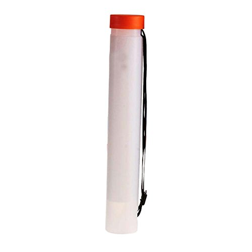 FANCY PUMPKIN Telescopic Drawing Cylinder Plastic Painting Tube Poster Tube Carrying Case with Strap, White by FANCY PUMPKIN