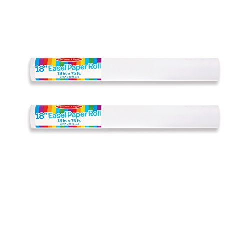 Melissa & Doug Easel Paper Roll- 18″ X75′ (Set of 2)
