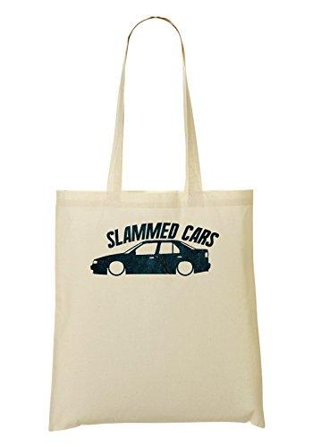 Cars Slammed Stance Cool Car Culture Font Phrases Handbag Shopping Bag