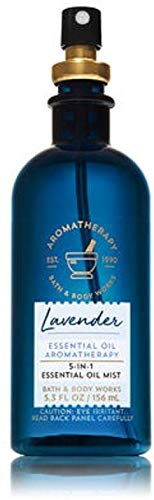 Bath & Body Works Aromatherapy Lavender 5-in-1 Essential Oil Mist, 5.3 Fl Oz