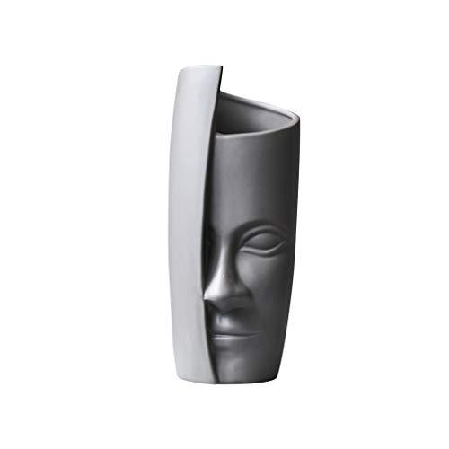 Vases LIUBINGER Creative Design Section Art Decoration Home Abstract Decorative Floral Set Wine Cabinet (Color : Gray) ()