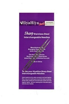 Stainless Steel Sharp Tip - Hiya-Hiya 4 Inch SHARP Stainless Steel Interchangeable Knitting Needle Tip