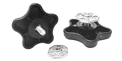 Carefree 901022 Black RV Awning Brace Knob with Clamp