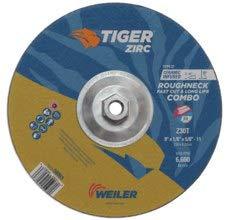9 in Diameter Type 27 Zirconium Combo Wheel 1//8 in Thick WEILER Tiger Standard 57106 30 GRIT