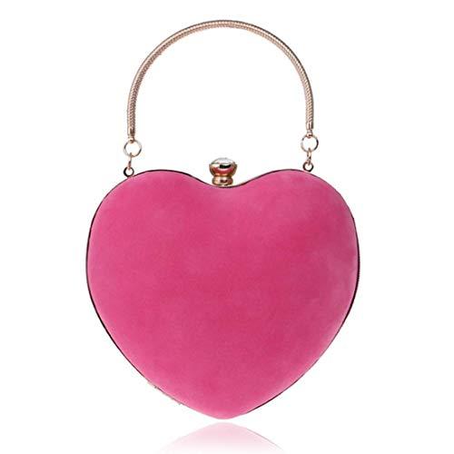 Donne Sera Di Ahimitsu Forma A Carina colore Red Pink Piccola Borsa Da Totalizzatore Donna Cuore Per 1 Pochette Mini 6wqxYRzrH6