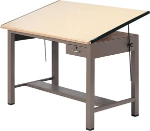 Ranger Steel Four Post Table w Tool Drawer (37.5 in. L x 48 in. W) Ranger Steel Four Post