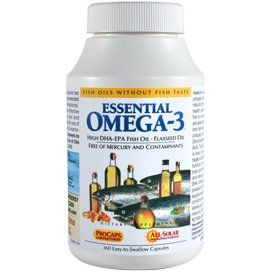 Essential Omega-3 - No Fishy Taste - Mint 600 Softgels by Andrew Lessman