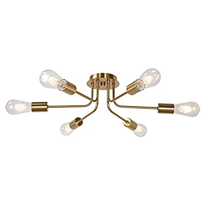 TULUCE Ceiling Lighting 8 Light Industrial Vintage Ceiling Light