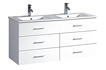 Belvedere Designs T9126a Modern Floating Double Bathroom Vanity 48