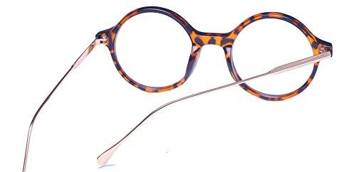 Claro Unisex Metal Gafas Marco ALWAYSUV De de Lente Estampado Plástico De Gafas Casual Enmarcado Círculo leopardo Gafas Completo Moda fnYzqp1w