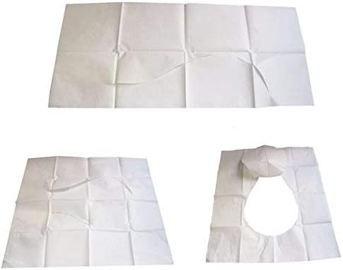 旅行浴室用品用の健康的な使い捨てトイレシートペーパークッションカバーの1パック/ 10個